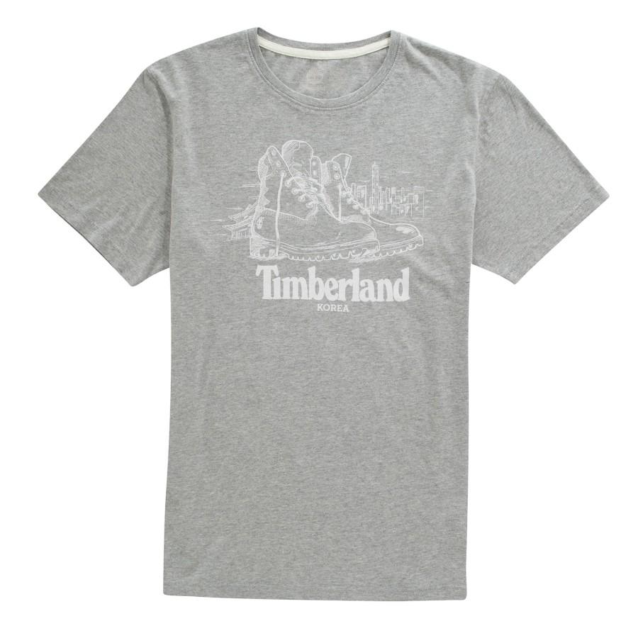 [A1LFE] 남성 팀버랜드 그래픽 티셔츠- 그레이